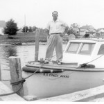 Lyle Garfield at DeTour Dock (1950)