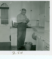 1940-1962, Keeper in Charge, Charles Jones in the kitchen of DRL (1957)