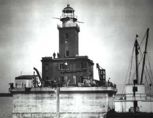 Construction of the DeTour Reef Lighthouse
