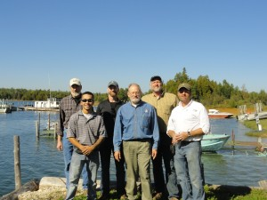 Left to right: Ken Czapski of Sanders and Czapski Architects; Bobby Olivarez of Mimh Enterprises; Bryan Lijewski from SHPO; Dave Bardsley from DRLPS; Jeff Velderman, Owner Quality Drywall of Holland, MI; and Frank Mihm of Mimh Enterprises