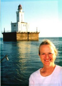 Jeri Baron Feltner in 1999 at the beginning of the DeTour Reef Light Restoration